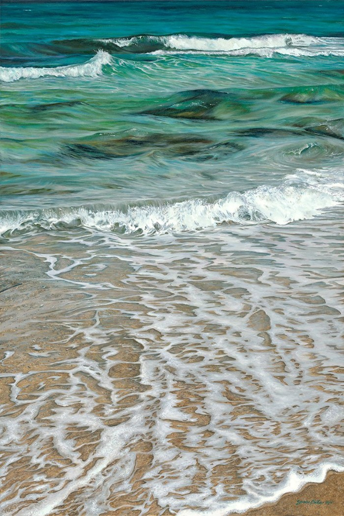 """""""Lucid Waters"""" oil on canvas by Susan Outlaw"""