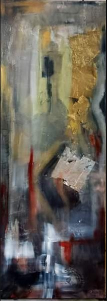 """""""Defiance"""" abstract painting by Marie Manon Corbeil"""