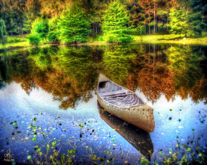 """""""Alone On The Lake"""" landscape photography by Pennie McCracken"""