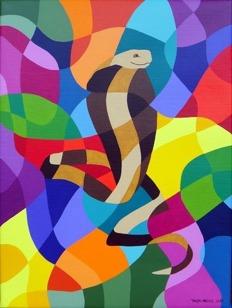 """""""The Cobra"""" acrylic on canvas by Tanja Hassel"""