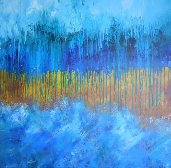 """""""Elements"""" abstract painting by Ank Draijer"""