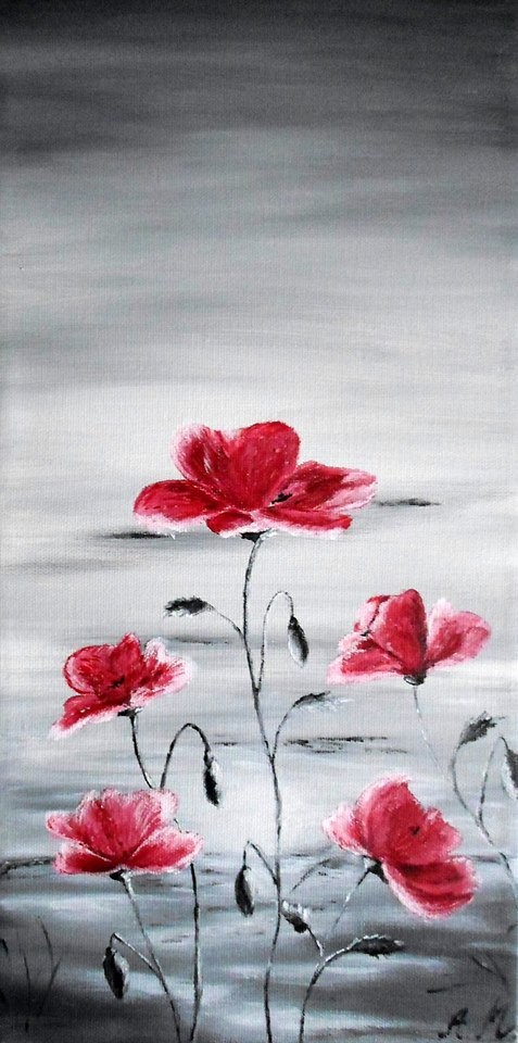 """""""Waiting for Spring"""" acrylics on canvas by Adriana Mijaiche"""