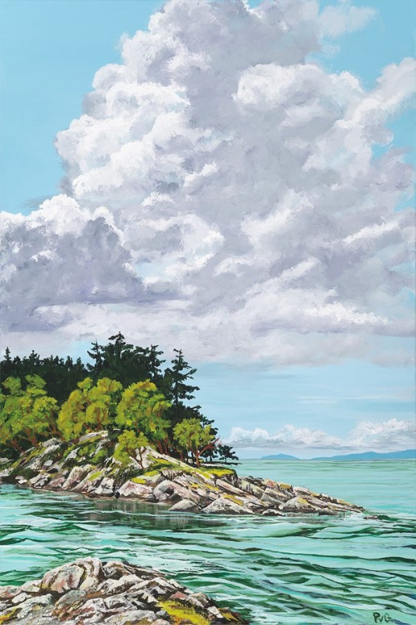"""""""Afternoon Bliss"""" acrylics by Peter Van Giesen"""