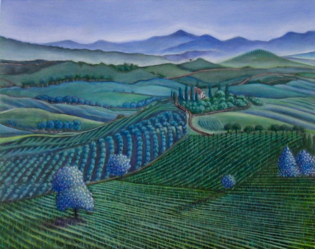 """""""Peace in the Valley"""" oil painting by Carla Strozzieri"""