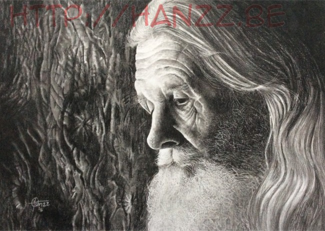 """Old Man In Memories"" pencil drawing by Hanzz"