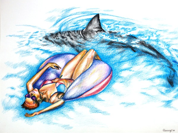 """""""Drifting"""" colored pencils by Courtney Kenny Porto"""