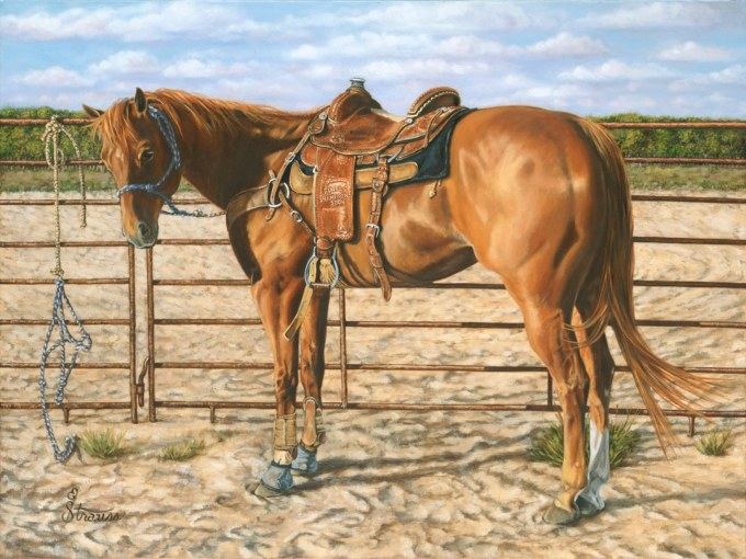 """""""Ready When You Are"""" oil on canvas by Ellen Strauss"""