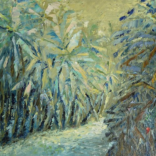 """""""The Enchanted Walkway"""" oil on canvas by Ta Thaimakeo"""