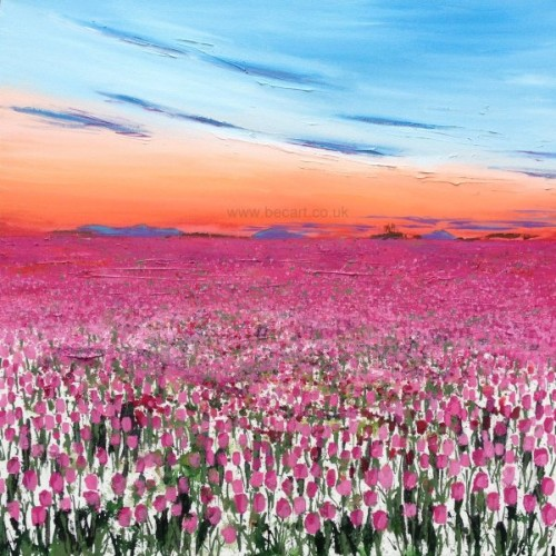 """""""Dusk Over the Tulip Field"""" by Becca Clegg"""