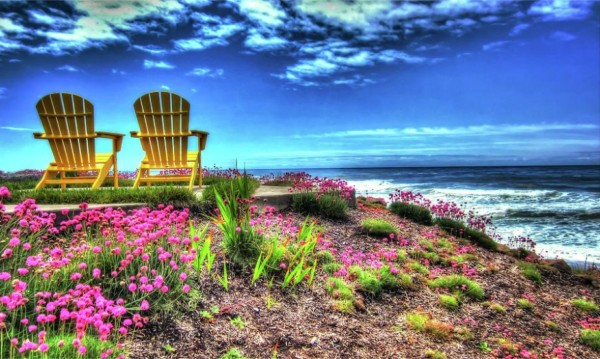"""Yellow Chairs by the Sea"" photography by Thom Zehrfeld"