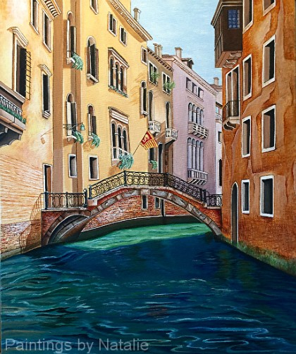 """""""Venice Canal"""" by Natalie Reilly"""