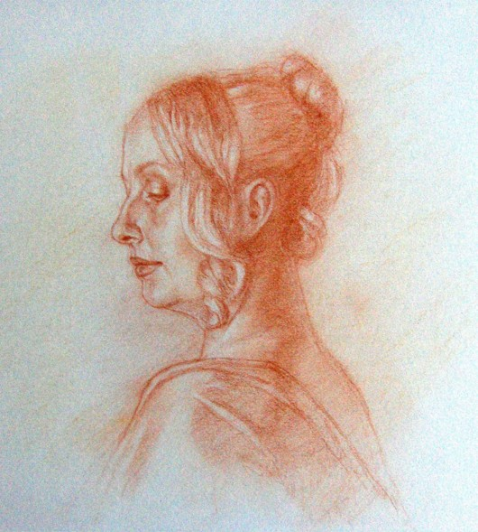 """Renaissance Woman"" conte pencil by Marilyn Lambert Gerwing"