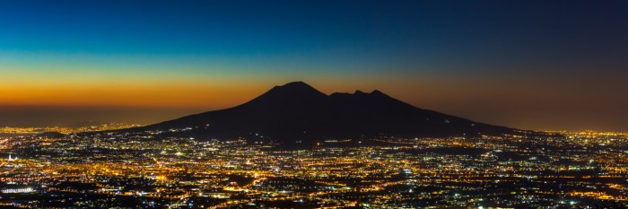 """Mount Vesuvius at Night"" Photography by Erik Brede"