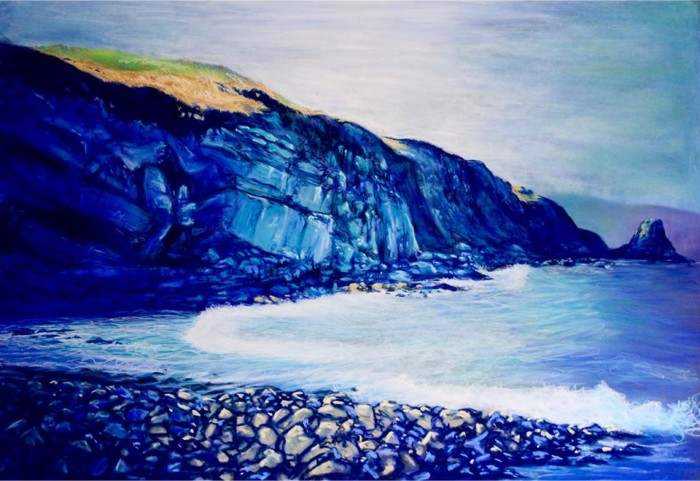 """""""Portmuck Tide"""" Soft pastels by Stephanie Noble"""