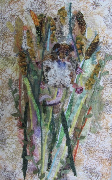 """""""Harvest Mouse"""" textiles by Barbara Shaw"""