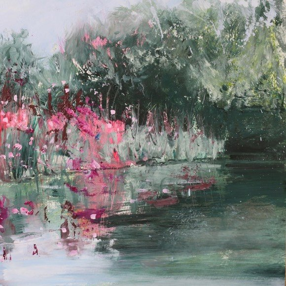 """August on the Ouse"" oil painting by Susie Monnington"