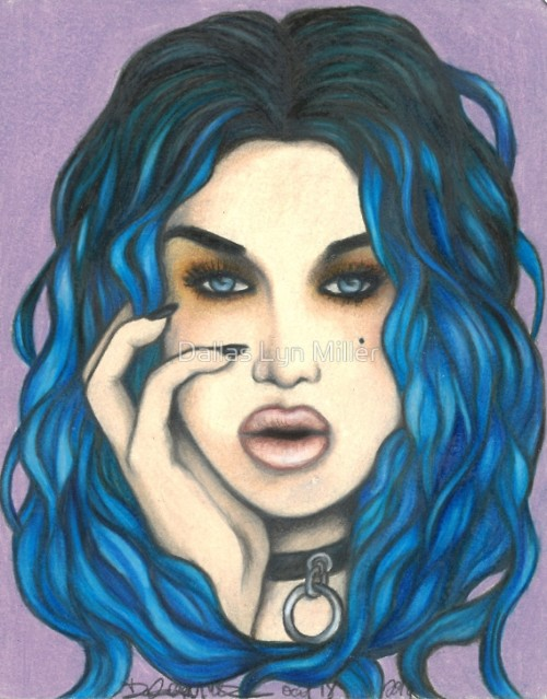 """I Adore You ~ Adore Delano"" colored pencils by Dallas Lyn Miller"