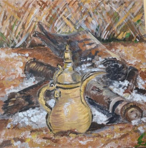"""Hot Tea"" acrylic painting by Farah Coolman"