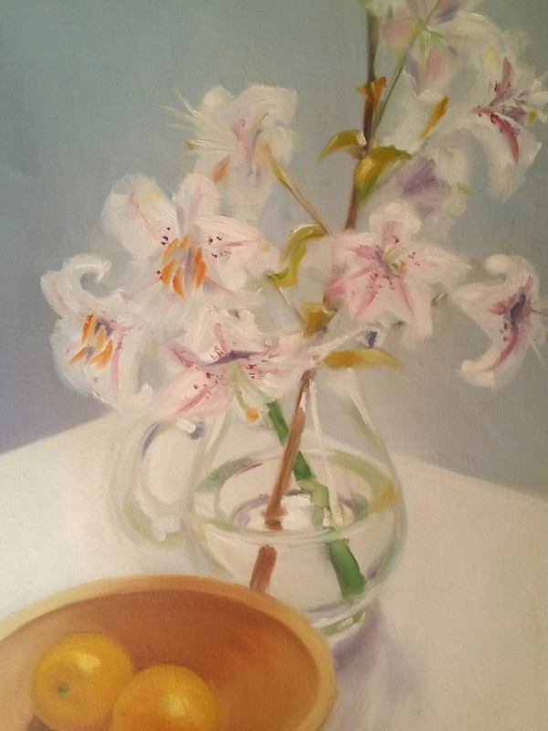 """Lillies"" oil on canvas by Juliana Inman"